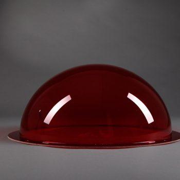Runde Lichtkuppeln rot