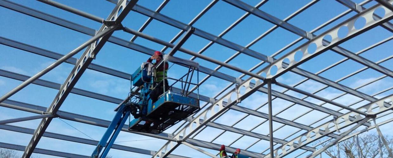 Glasdächer im Freizeitpark TRABOLGAN in Cork (Irland)