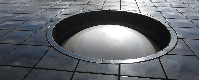 Runde Lichtkuppel Durchmesser 2,70 Meter im Hannover Expo Haus
