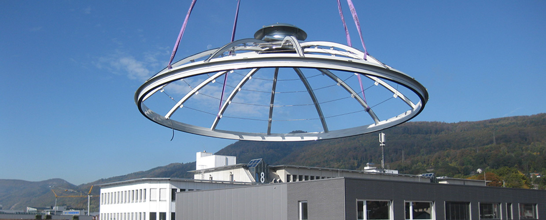Lichtkuppelsonderkonstruktionen für DePuySynthes in Hägendorf (CH)