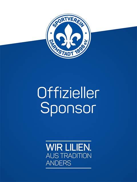 Offizieller Sponsor von Darmstadt 98 e.V.